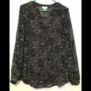 Black blouse from Loft